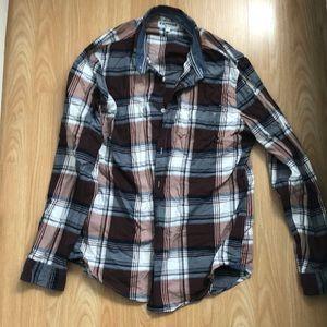 Express plaid long sleeve shirt